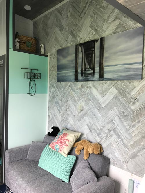 Barnwood Accent Wall - Serving Window - Beach House by Kamtz Tiny Home Company
