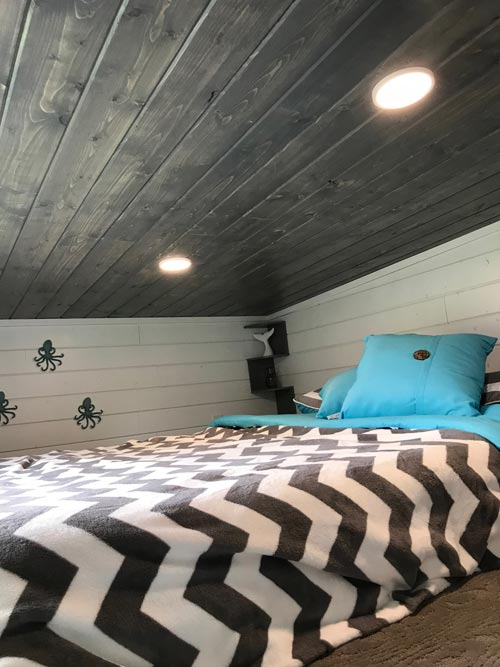 Bedroom Loft - Serving Window - Beach House by Kamtz Tiny Home Company