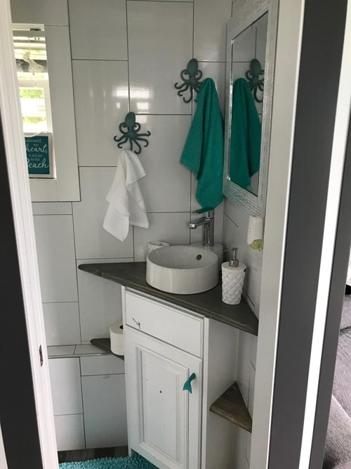 Corner Vanity - Serving Window - Beach House by Kamtz Tiny Home Company