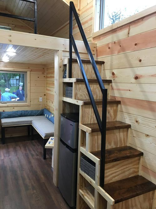 Storage Stairs - New Beginning by Rafter B Tiny Homes
