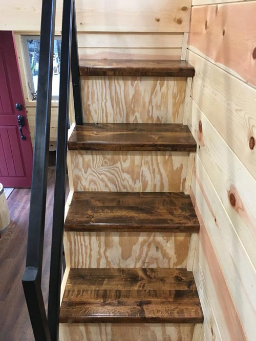 Alder Stair Treads - New Beginning by Rafter B Tiny Homes