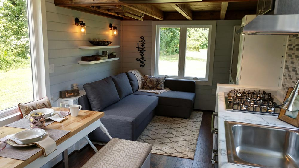 Living Room - Blue Heron by Blue Sky Tiny Homes