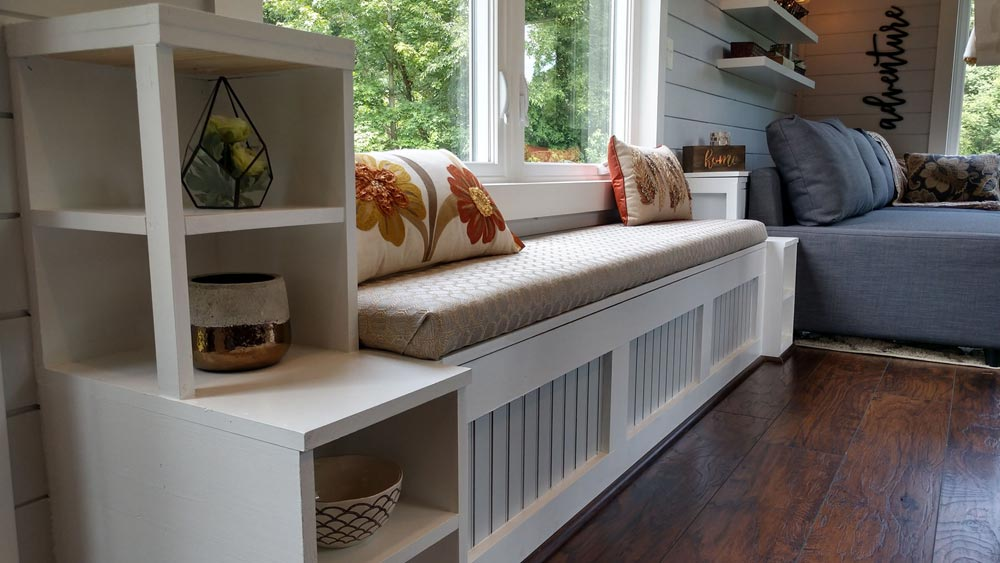 Bench Storage Seating - Blue Heron by Blue Sky Tiny Homes