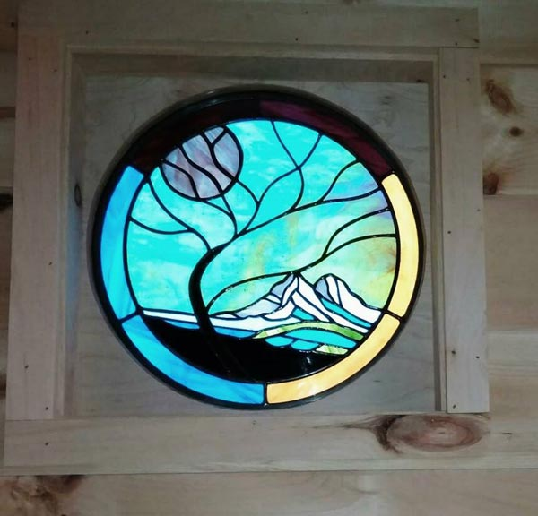 Stained Glass Window - Bluegrass Beauty by Incredible Tiny Homes