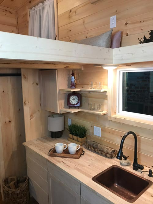 Kitchen Shelves - Bluegrass Beauty by Incredible Tiny Homes