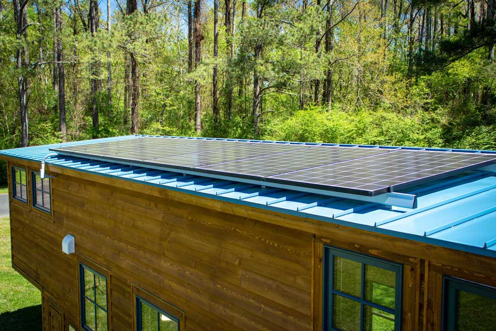 Solar Panels - Boxcar GN by Timbercraft Tiny Homes