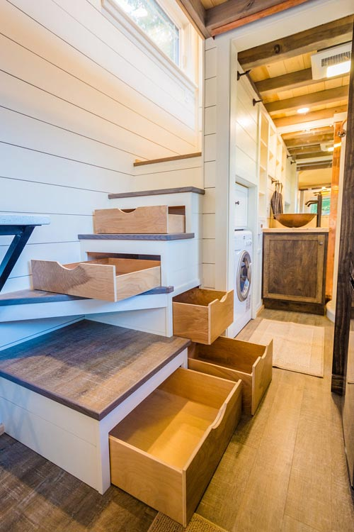 Stair Drawers - Francelia's Tiny House by MitchCraft Tiny Homes