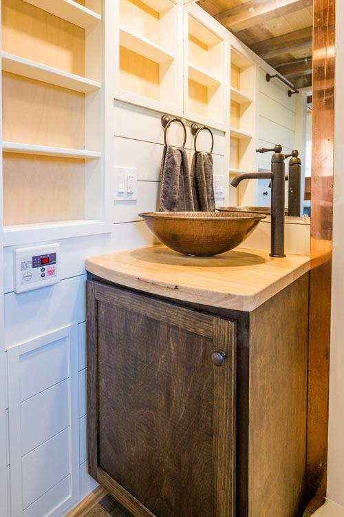 Vessel Sink - Francelia's Tiny House by MitchCraft Tiny Homes