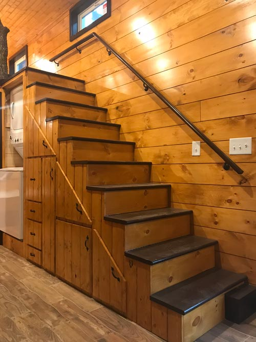 Storage Stairs - Be Our Guest by Incredible Tiny Homes