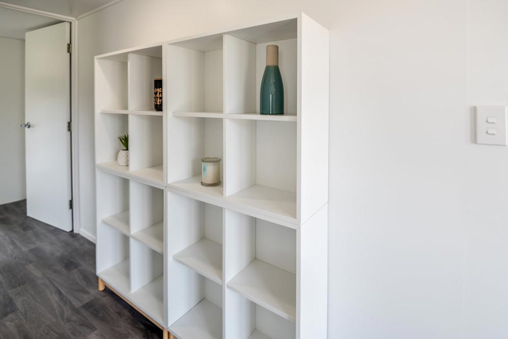 Hallway Storage - Kauri by Tiny House Builders