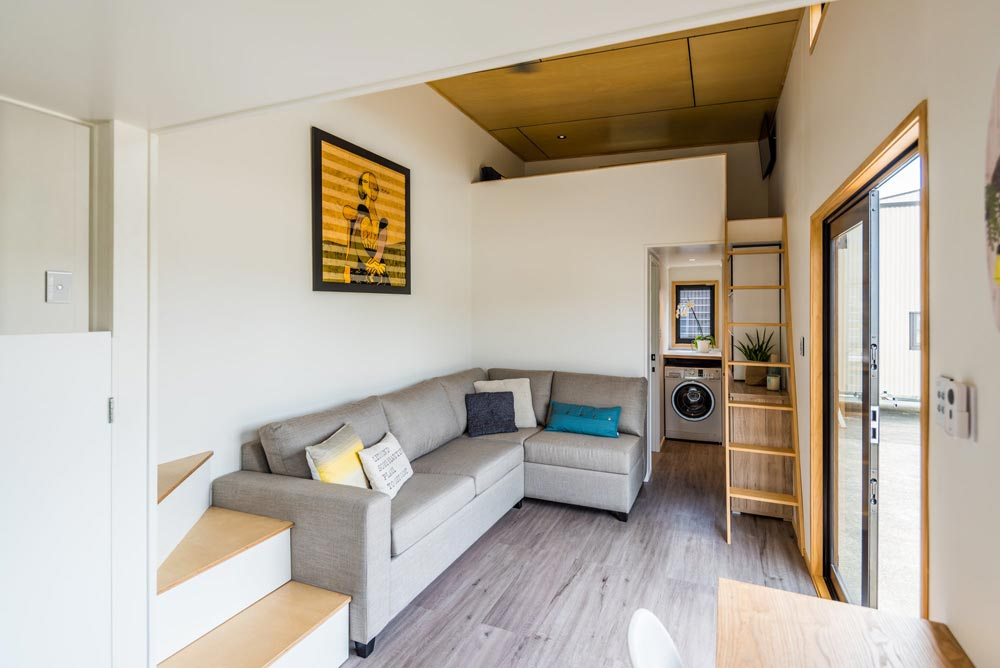 Living Room - Pohutukawa by Tiny House Builders