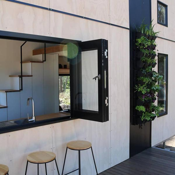 Bifold Servery Window - Showcase by Sowelo Tiny Houses
