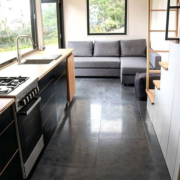 Concrete Floors - Showcase by Sowelo Tiny Houses
