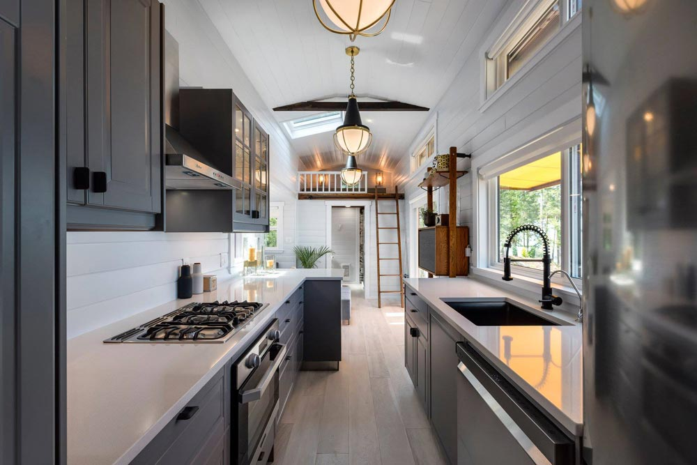 Galley Kitchen - Double Slide-Outs by Mint Tiny Homes