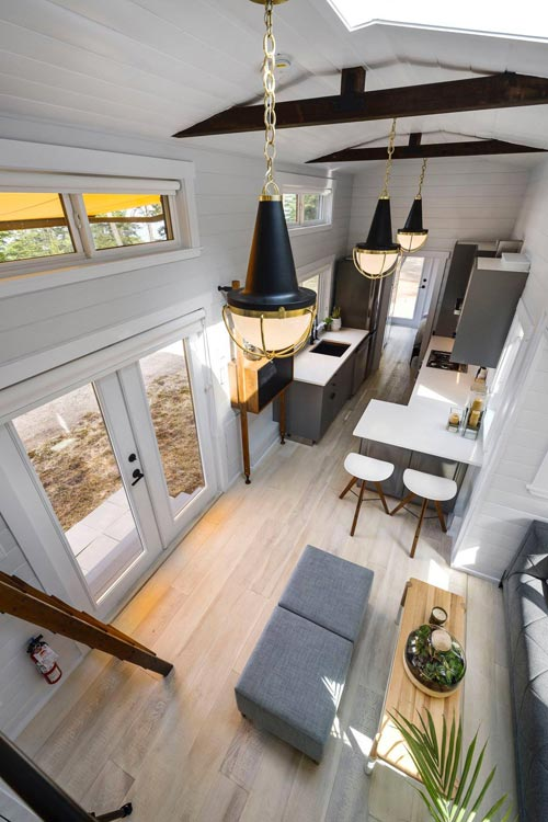 Aerial View - Double Slide-Outs by Mint Tiny Homes