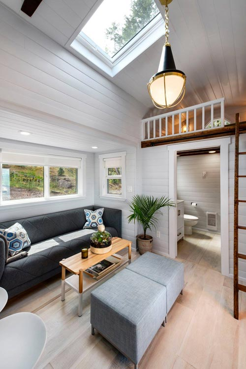 Living Room & Bathroom - Double Slide-Outs by Mint Tiny Homes