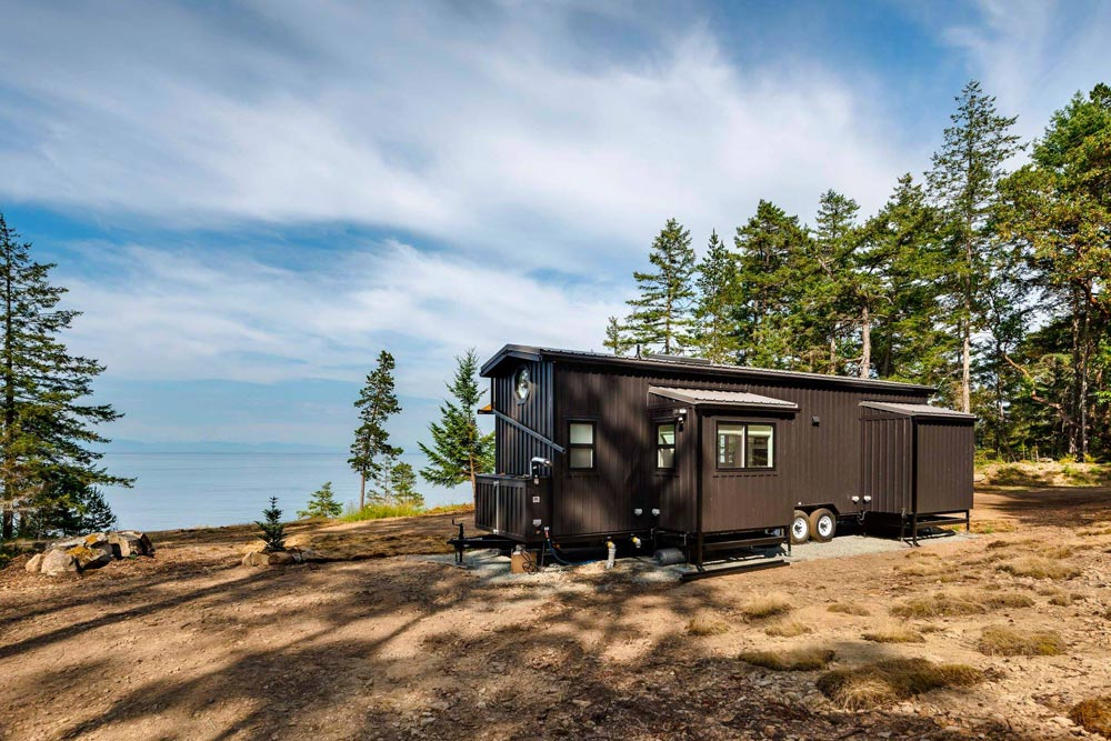 Rear View - Double Slide-Outs by Mint Tiny Homes
