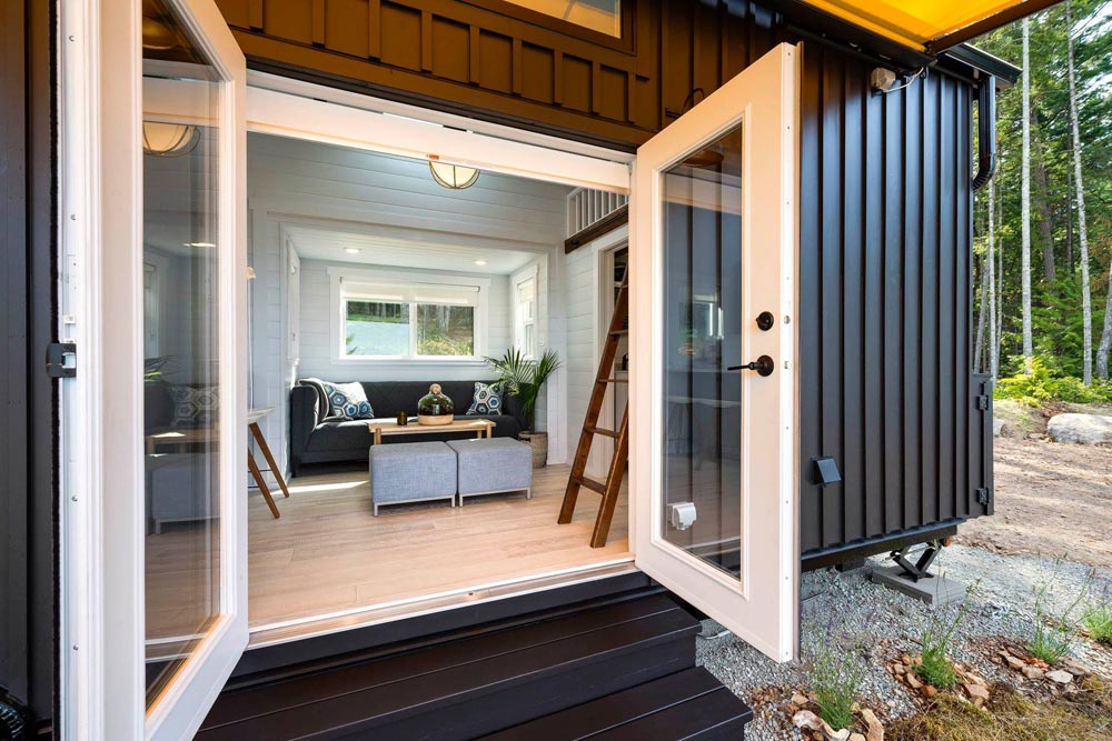 French Doors - Double Slide-Outs by Mint Tiny Homes