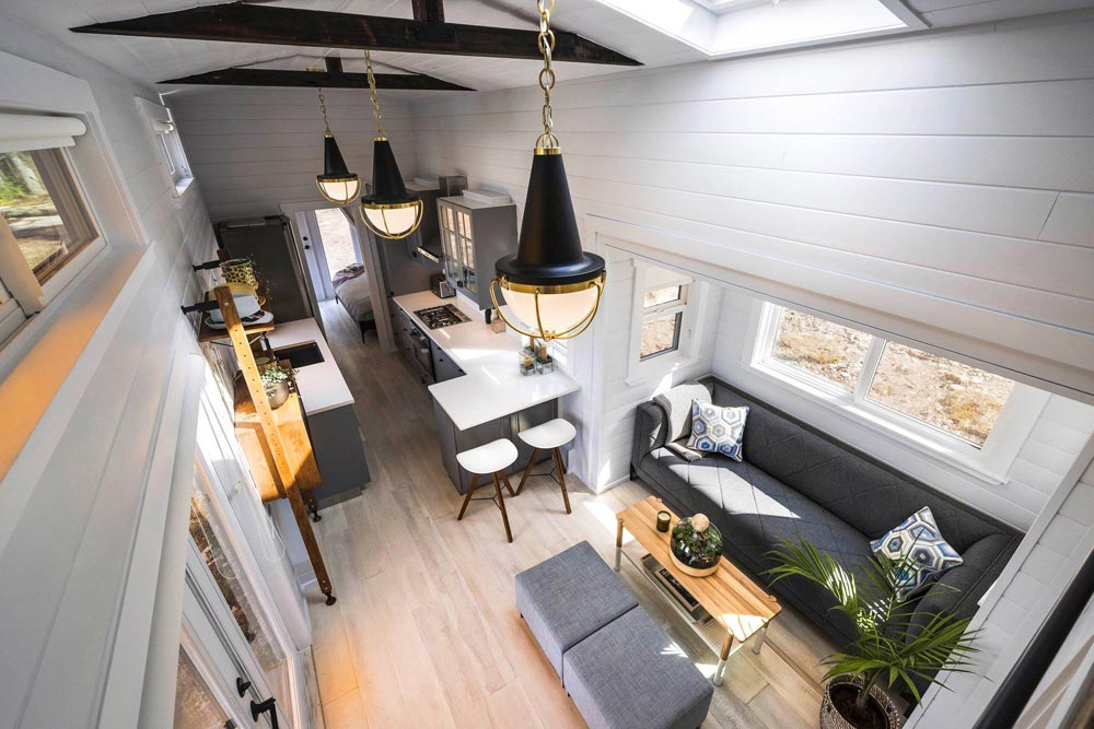 Living Room & Kitchen - Double Slide-Outs by Mint Tiny Homes