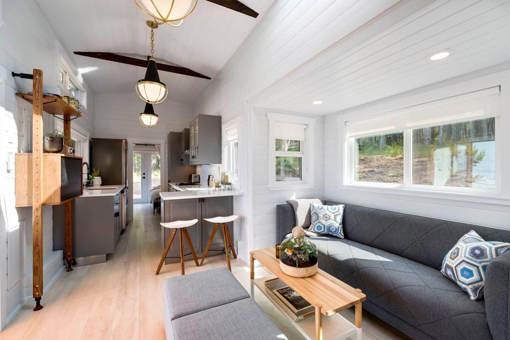 Living Room Slide-Out - Double Slide-Outs by Mint Tiny Homes