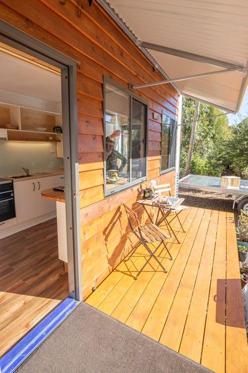 Fold Down Deck - Beach Shack by Tiny Homes Tilba Australia