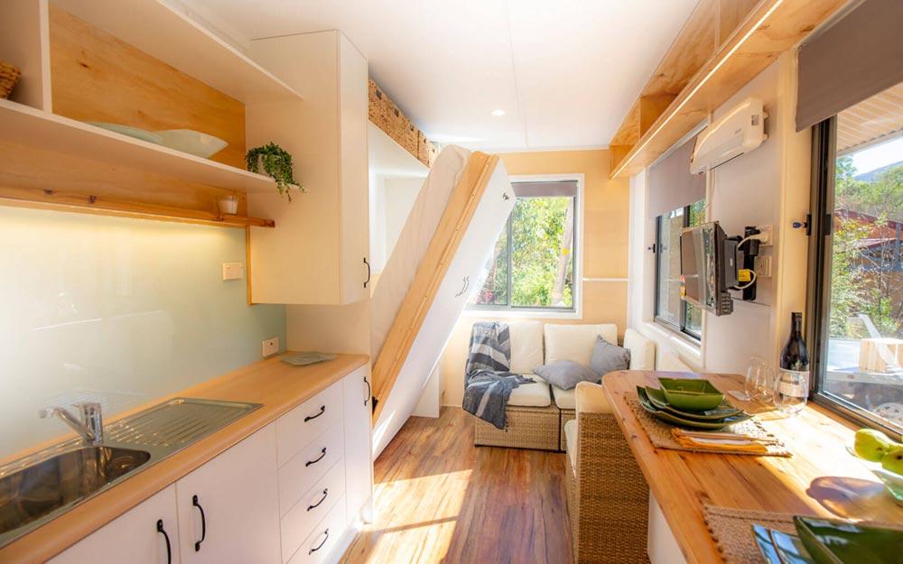 Tiny House Interior - Beach Shack by Tiny Homes Tilba Australia