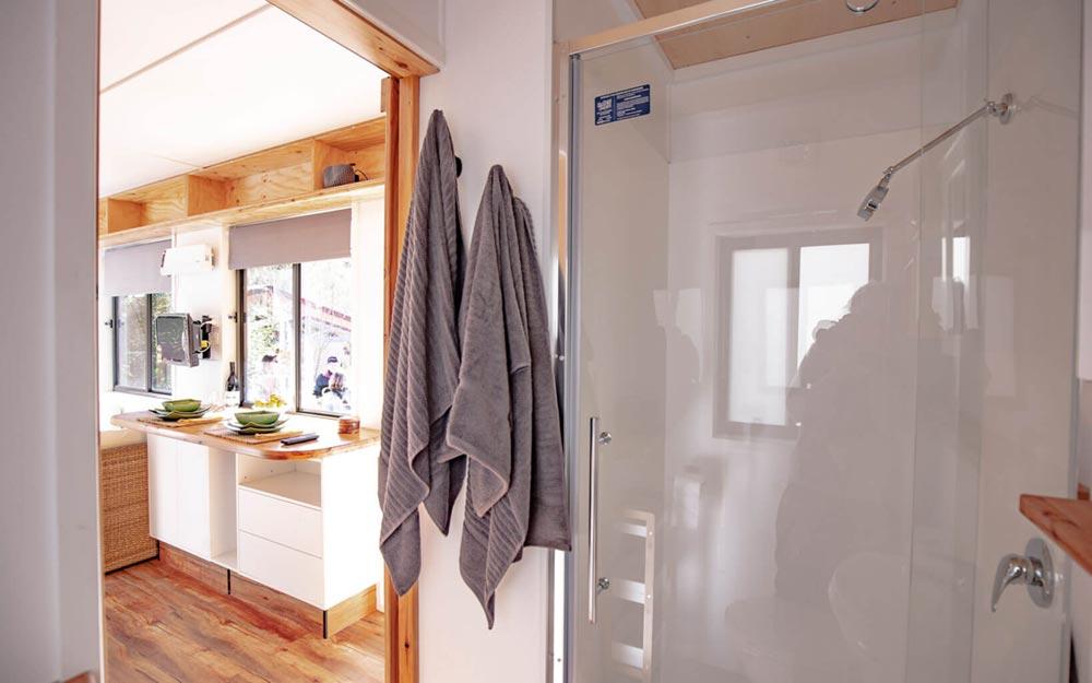 Shower - Beach Shack by Tiny Homes Tilba Australia