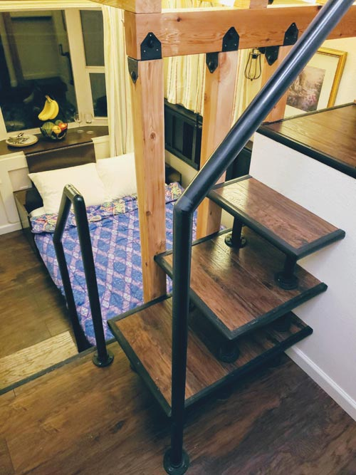 Loft Stairs - Emerald Lodge by Pocket Mansions