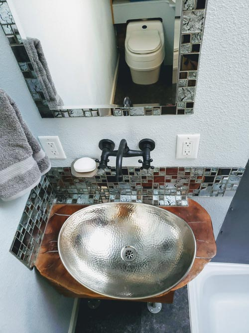 Hammered Nickel Sink - Emerald Lodge by Pocket Mansions