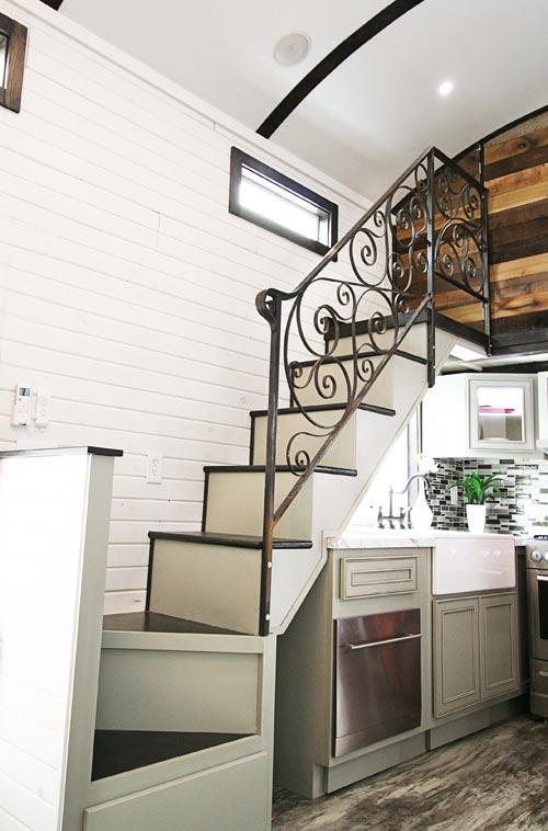 Stairs Railing - Family-Friendly Carpathian by Tiny Idahomes