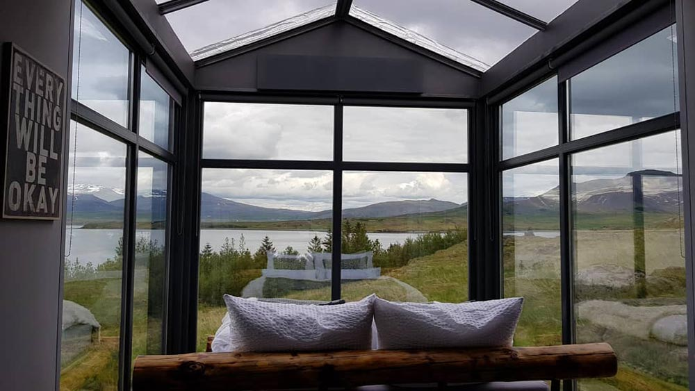 View From Bedroom - Panorama Glass Lodge