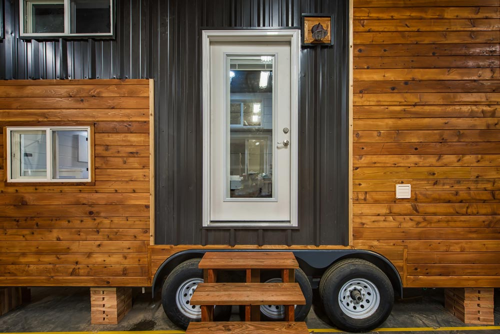 Cedar & Metal Exterior - Grizzly by Backcountry Tiny Homes