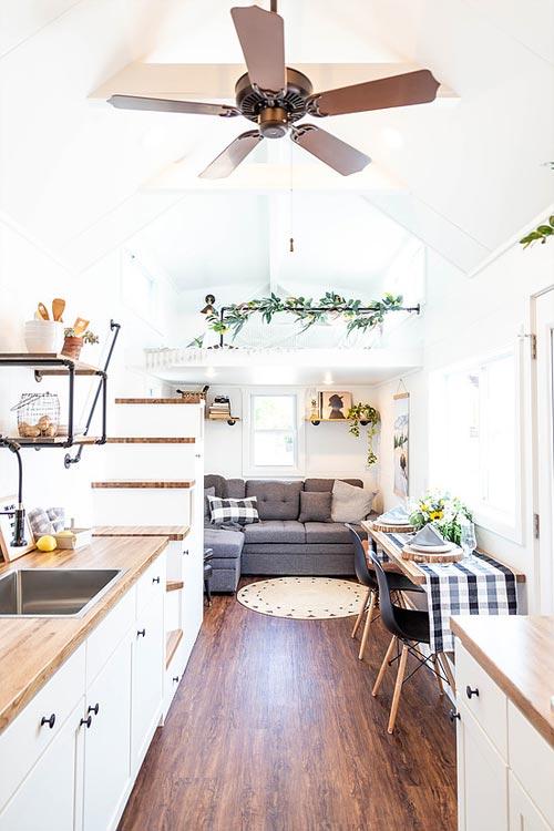 Tiny House Interior - Rumspringa by Liberation Tiny Homes