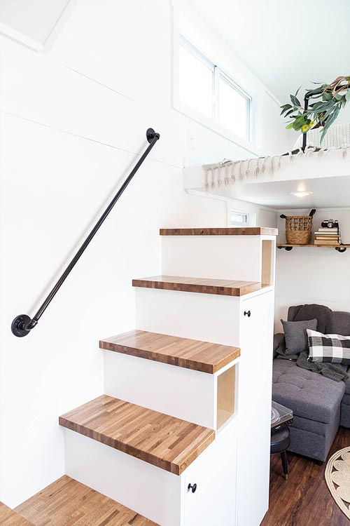 Storage Stairs - Rumspringa by Liberation Tiny Homes