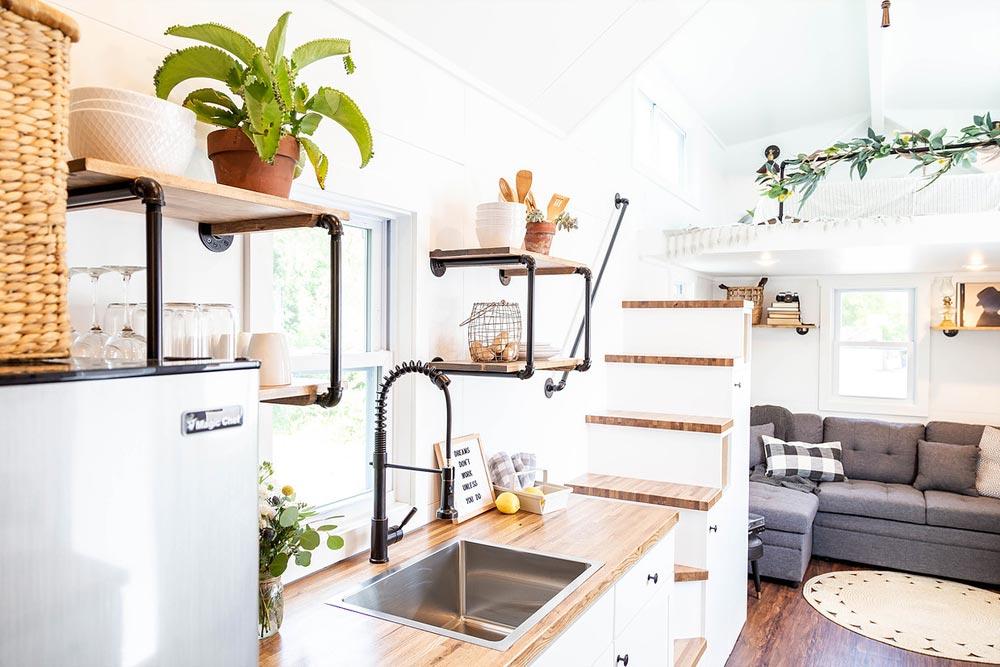 Oak Butcher Block Counter - Rumspringa by Liberation Tiny Homes