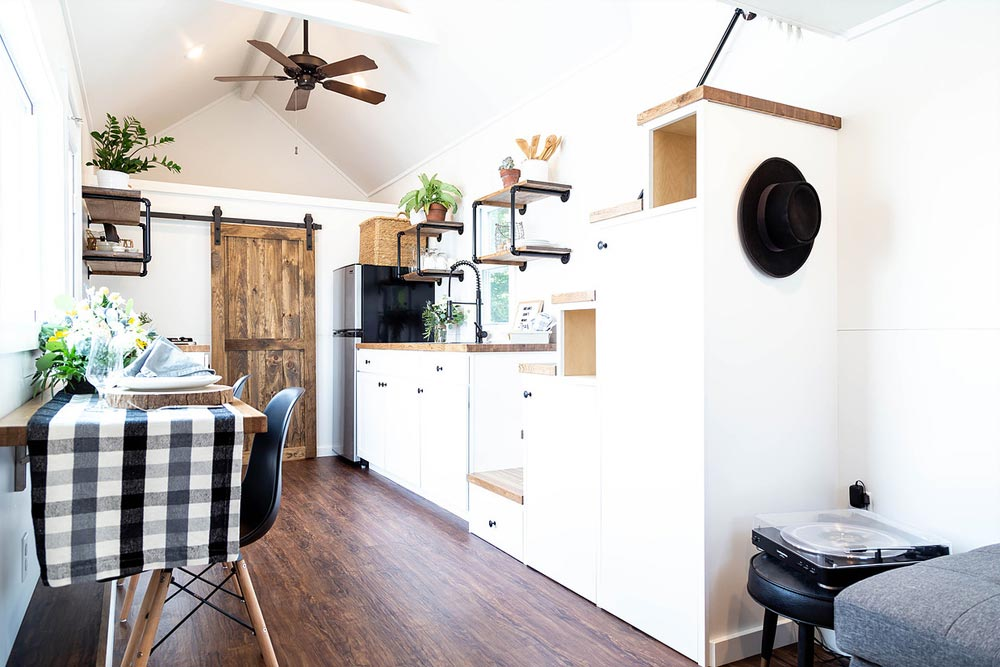 Kitchen & Stairs - Rumspringa by Liberation Tiny Homes