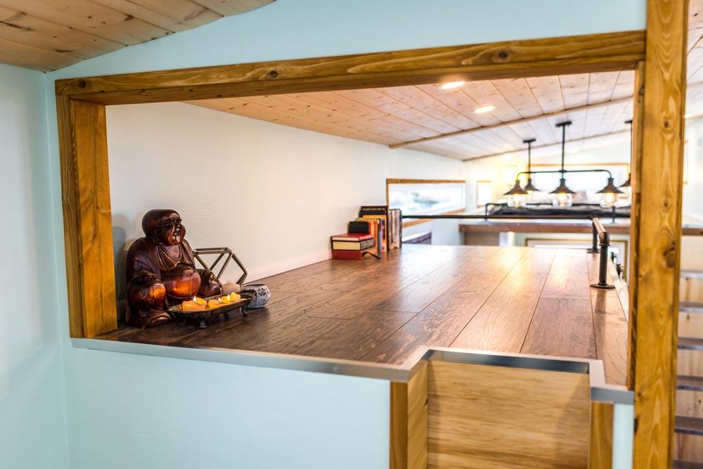 Loft Over Bathroom - Tiny Show Home by Vagabond Tiny Homes