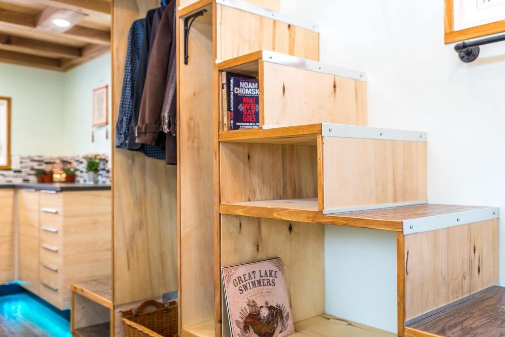 Storage Staircase - Tiny Show Home by Vagabond Tiny Homes