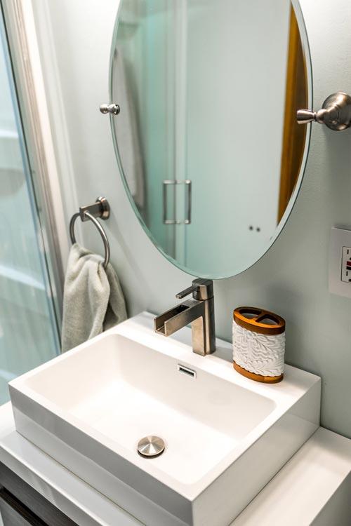 Vessel Sink - Tiny Show Home by Vagabond Tiny Homes