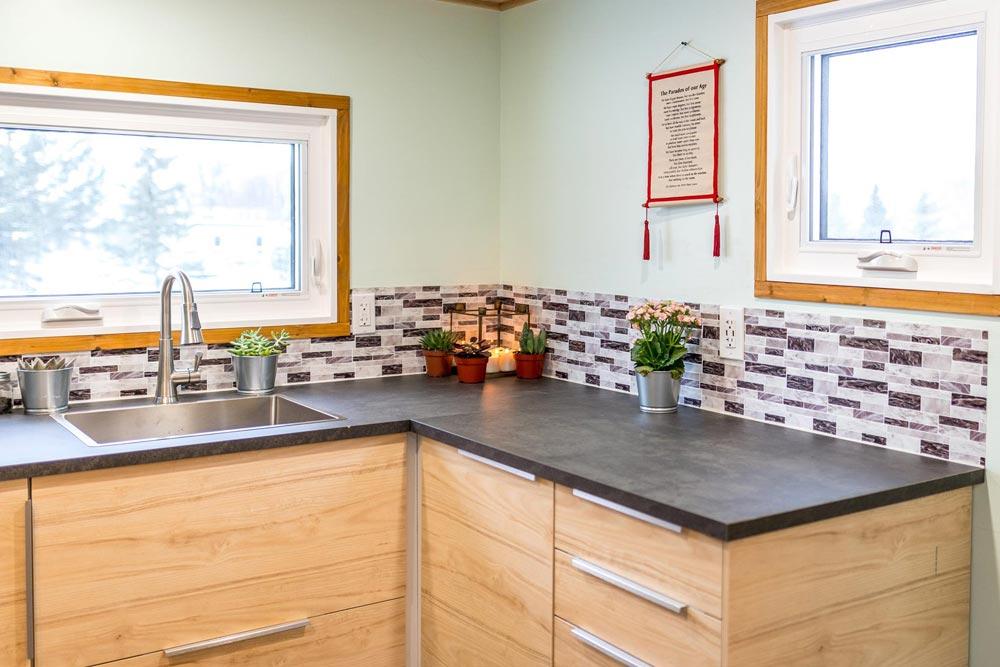 Tile Backsplash - Tiny Show Home by Vagabond Tiny Homes
