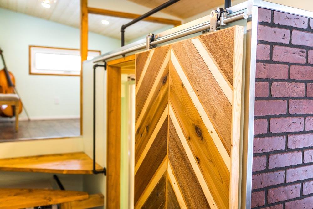 Custom Barn Door - Tiny Show Home by Vagabond Tiny Homes