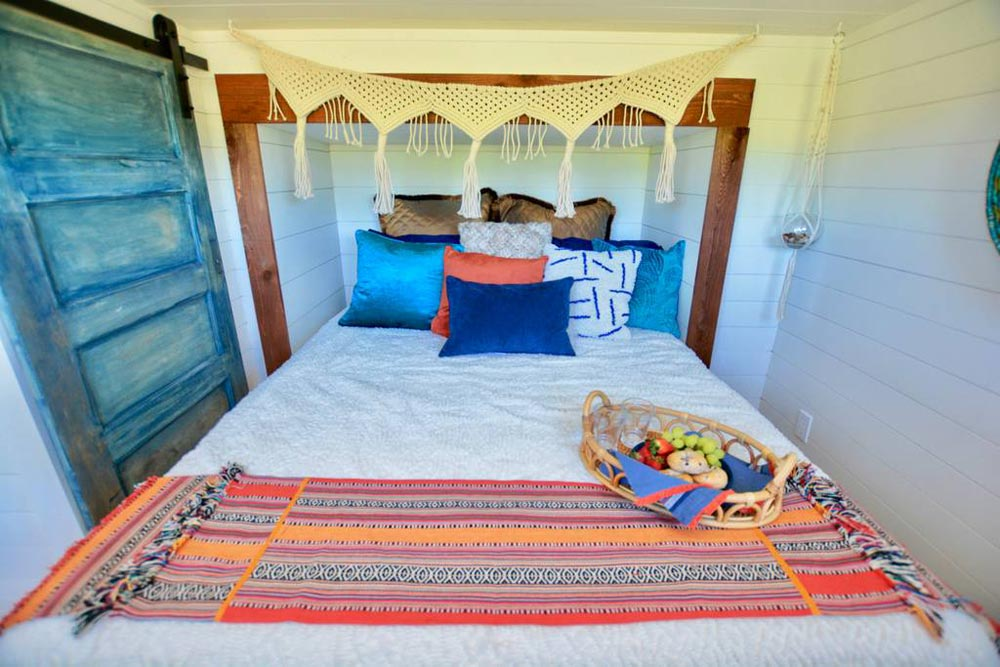 Bedroom Over Gooseneck - Bohemian Bungalow by Hill Country Tiny Houses