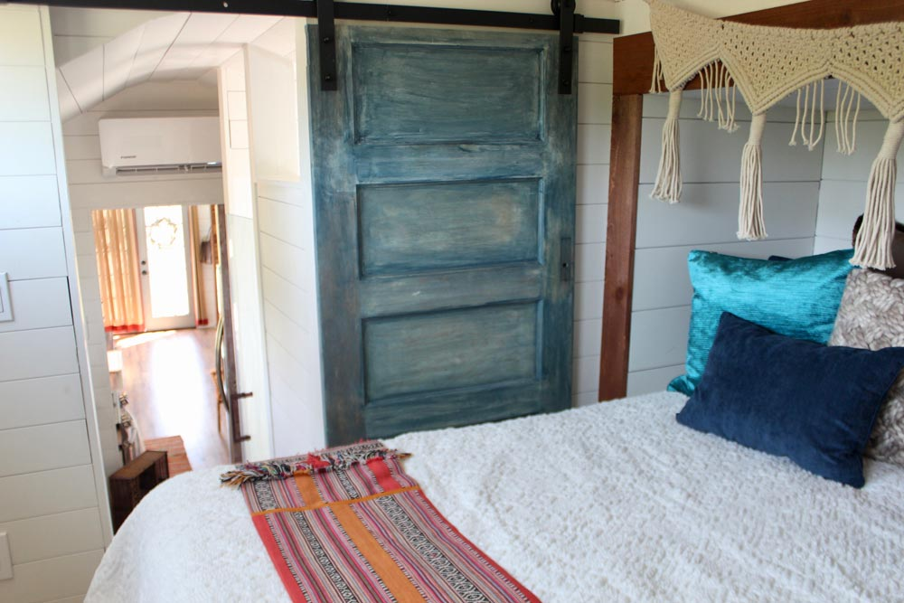 Bedroom Barn Door - Bohemian Bungalow by Hill Country Tiny Houses