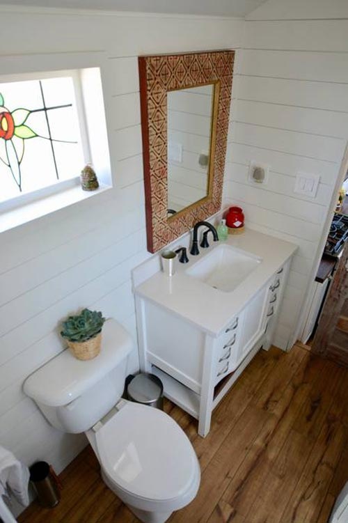 Bathroom - Bohemian Bungalow by Hill Country Tiny Houses