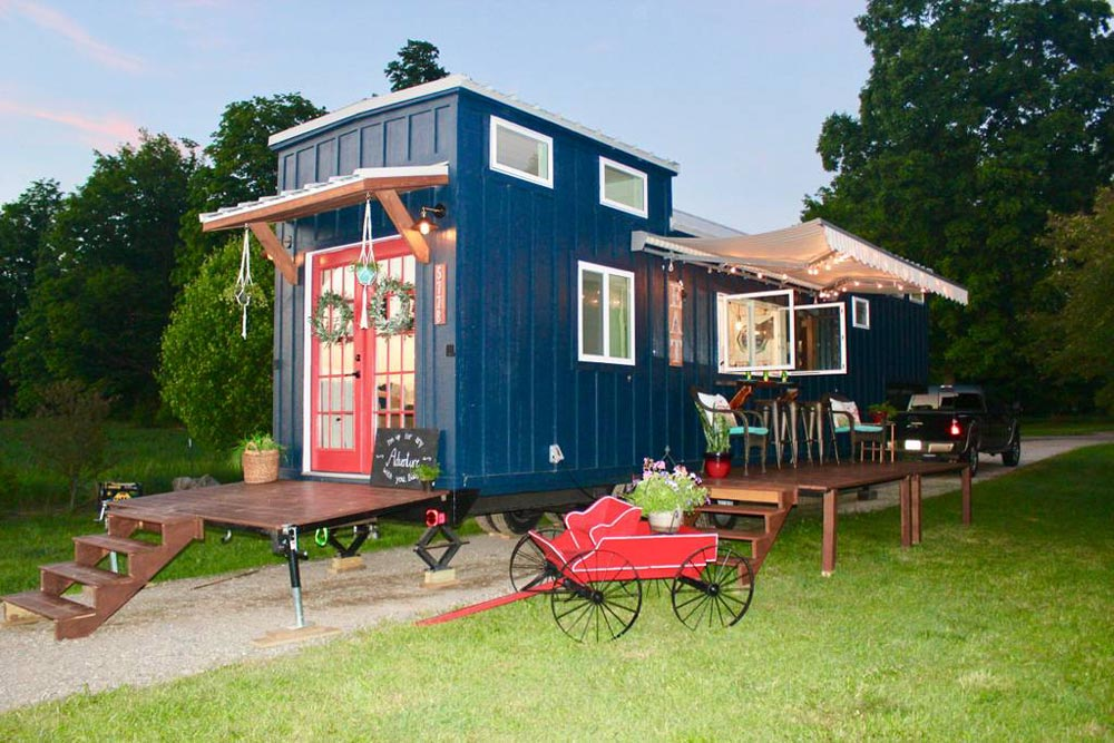 Outdoor Decks - Bohemian Bungalow by Hill Country Tiny Houses