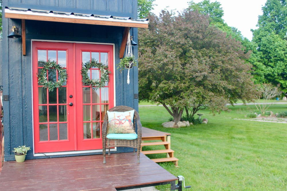 French Doors - Bohemian Bungalow by Hill Country Tiny Houses