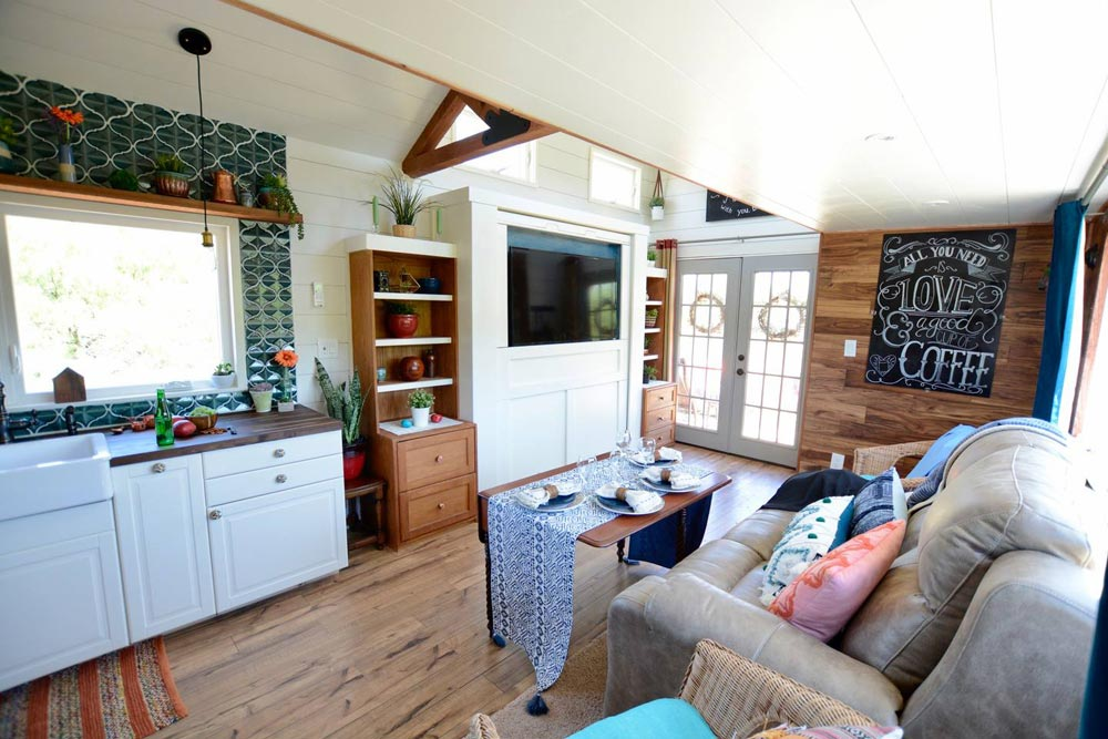 Living Room - Bohemian Bungalow by Hill Country Tiny Houses