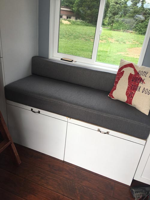 Couch w/ Storage - Expedition by Maverick Tiny Homes