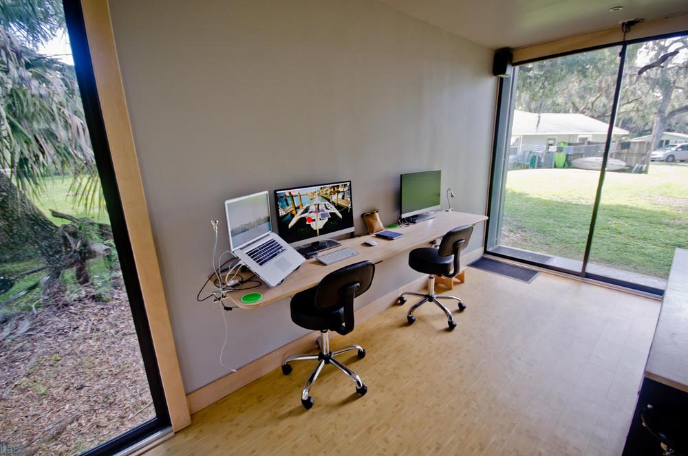 Workspace - hâB Shipping Container Tiny Home