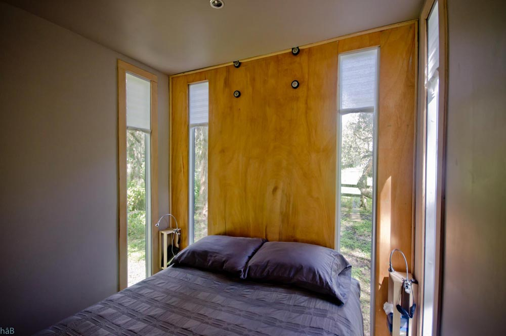 Bedroom Windows - hâB Shipping Container Tiny Home